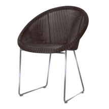 Gipsy Steel Framed Dining Chair - Mocca