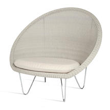 Gipsy Cocoon Steel Frame Chair  - Old Lace