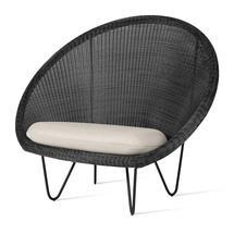 Gipsy Cocoon Black Frame Chair  - Black