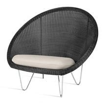 Gipsy Lounge Steel Frame Chair  - Black