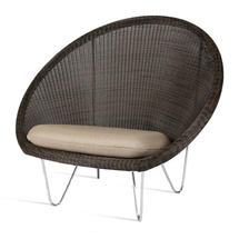 Gipsy Lounge Steel Frame Chair  - Mocca