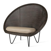 Gipsy Lounge Black Frame Chair  - Mocca