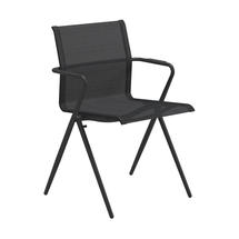 Ryder Stacking Chair with Arms - Meteor / Anthracite