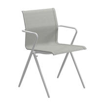 Ryder Stacking Chair with Arms - White / Seagull