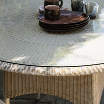 Safi Dining Table - Glass Top