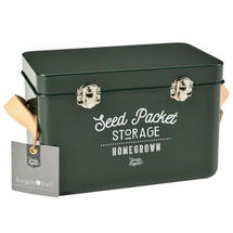 Leather Handled Seed Tin - Frog