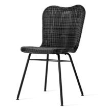 Lena Dining Chair with Steel Legs - Black