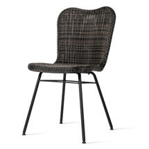 Lena Dining Chair with Steel Legs - Mocca