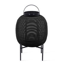 Tika Small Lantern with Steel Base - Black