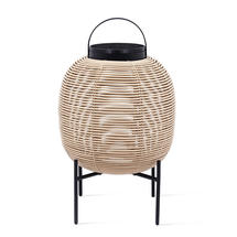 Tika Small Lantern with Steel Base - Camel