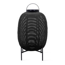 Tika Large Lantern with Steel Base - Black
