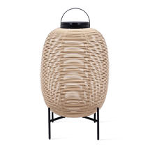 Tika Large Lantern with Steel Base - Camel