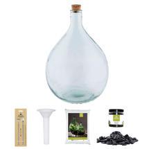Complete Bottle Terrarium 15L set - Grey Gravel