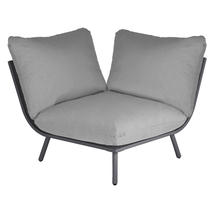 Beach Corner Module Lounge - Flint Frame/Grey Cushion