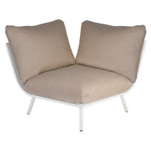 Beach Corner Module Lounge - Shell Frame/Taupe Cushion