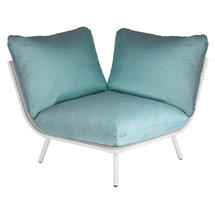 Beach Corner Module Lounge - Shell Frame/Jade Cushion