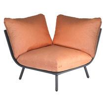 Beach Corner Module Lounge - Flint Frame/Ochre Cushion