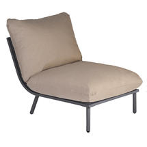 Beach Middle Module Lounge - Flint Frame/Taupe Cushion
