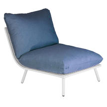 Beach Middle Module Lounge - Shell Frame/Blue Cushion