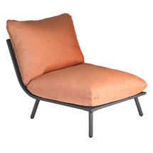 Beach Middle Module Lounge - Flint Frame/Ochre Cushion