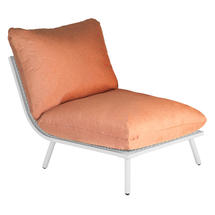 Beach Middle Module Lounge - Shell Frame/Ochre Cushion