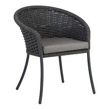 Cordial Grey Dining Chair with Anthracite Cushion