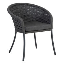 Cordial Grey Dining Chair with Charcoal Cushion
