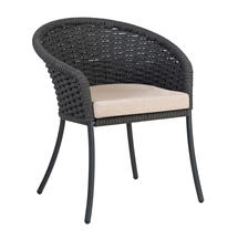 Cordial Grey Dining Chair with Oatmeal Cushion