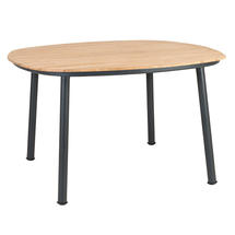 Cordial 120cm Dining Table Grey with Roble Top