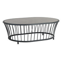 Cordial Coffee Table Grey with Pebble Top