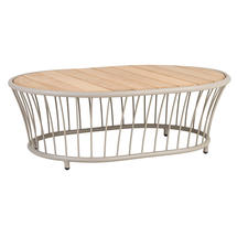 Cordial Coffee Table Beige with Roble Top