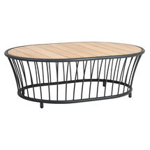 Cordial Coffee Table Grey with Roble Top