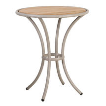 Cordial Bistro Table Beige with Roble Top