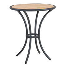 Cordial Bistro Table Grey with Roble Top