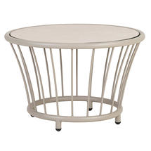 Cordial Side Table Beige with Sand Top