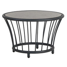 Cordial Side Table Grey with Pebble Top