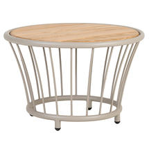 Cordial Side Table Beige with Roble Top