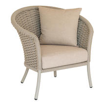 Cordial  Beige Curved Top Lounge Chair with Oatmeal Cushions