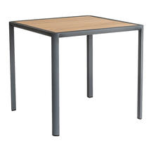 Fresco Square Dining Flint Table with Roble Top