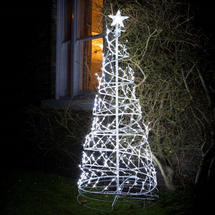 Outdoor Twinkling LED Helter Skelter Christmas Tree