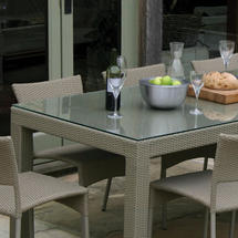 Partner Dining Table 215x90cm Glass Top