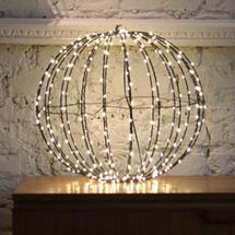Black 180 Warm white LED 30cm Sphere