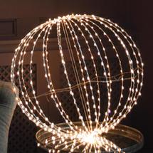 Silver 440 Warm white LED 60cm Sphere