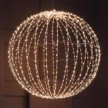Silver 900 Warm white LED 80cm Sphere