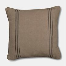 French Style Linen Black Stripe Large Cushion