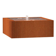Square Water Table 100 x 100 x 40 - Corten
