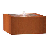 Square Water Table 80 x 80 x 40 - Corten