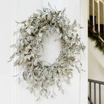 Vintage Silver Honeysuckle Wreath