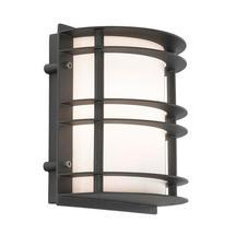 Stockholm Flush Wall Lantern - Black / Opal Lens