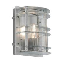 Stockholm Flush Wall Lantern - Galvanised / Clear Lens
